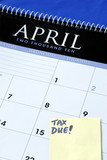 April 15th is the due day for income tax returns poster