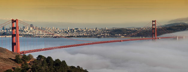 photo of the golden gate bridge at evening