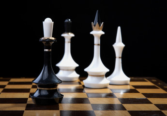 White figures checkmate to king