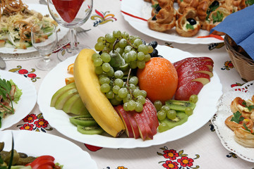 Dish with fruit