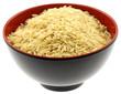 bol chinois noir riz complet jaune fond blanc