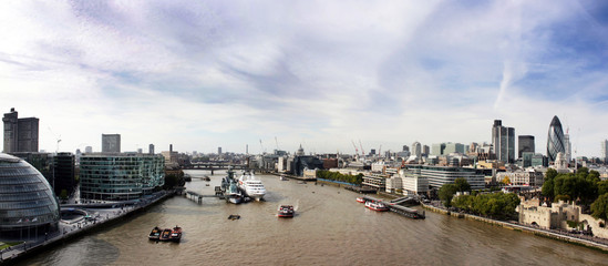 view from the Tower Bridge in London