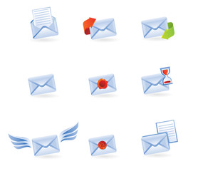 set of mail vector icons