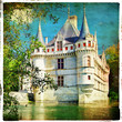 castle on water - retro styled picture