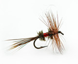 Famous dry (trout) fly called a Royal Wulff