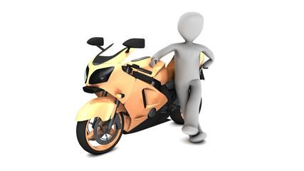 omino con moto