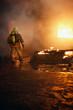 Fireman going to fire