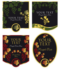 etiqueta de vino negro de lujo