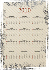 Grungy calendar 2010