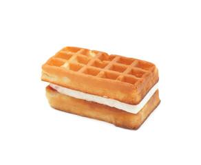Waffle, isolated on white
