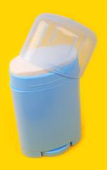 Deodorant preparation on yellow