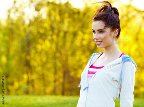 Fitness woman in park
