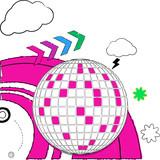 doodle disco ball poster