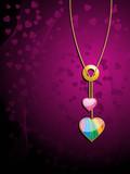 valentine rainbow heart pendant poster