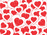 doodle heart background poster