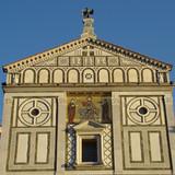 Beautiful  romanesque basilica San Miniato al Monte, Florence poster