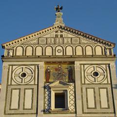 Beautiful  romanesque basilica San Miniato al Monte, Florence