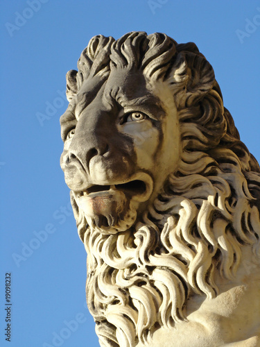 artistic sculpture of lion from Florence, Boboli Gardens