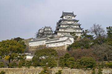 Majestic Castle of Himeji in Japan.