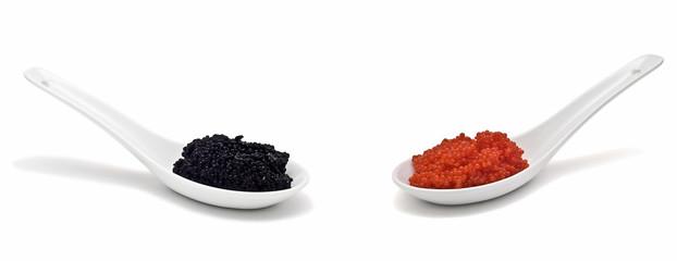 Cucharadas de caviar.