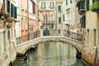 Romantic Venetian bridge in residential part of Venice