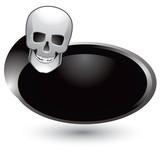 skull silver swoosh poster