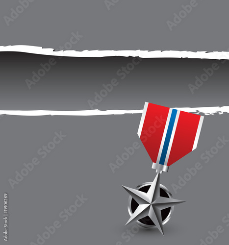 military medal gray ripped template