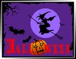 Illustration of Halloween in colour background
