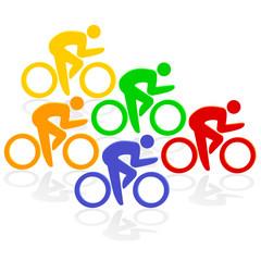 Radfahrer Farben
