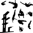 free style diving collection vector