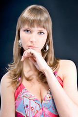 Fashion woman portrait with a hispanic looking