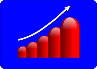 3d bar chart graph high performance