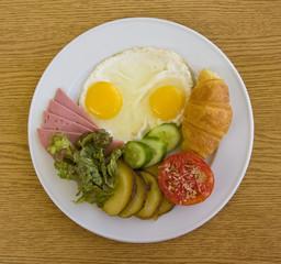 Breakfast in plate