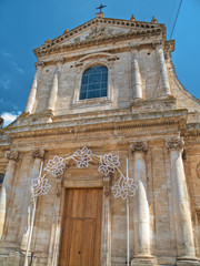 The Mother Church of S. Giorgio Martire. Locorotondo. Puglia.