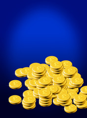 Gold pound coins