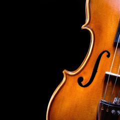 vintage violin over dark background