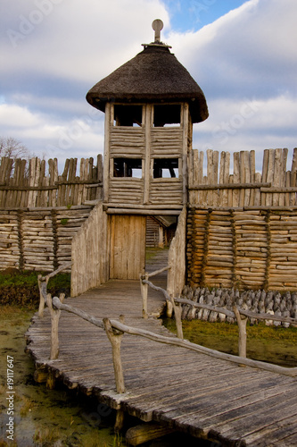 Wooden wall and tower