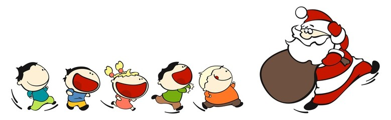 funny kids #7 - chasing santa