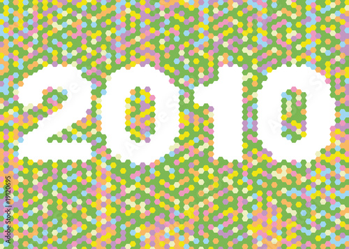 Mosaic year 2010 vector