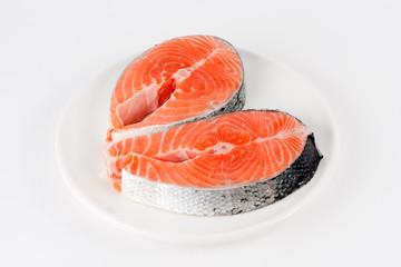 Raw filet of salmon