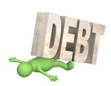 Hostage of the debt poster