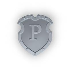 schild mit buchstabe P