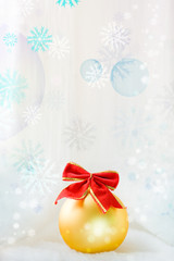 Festive background with a ball