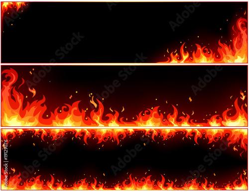 set of fire bunners