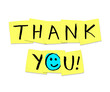 Thank You - Words on Yellow Sticky Notes - 19129207