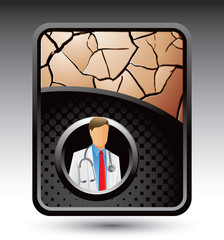 medical doctor bronze cracked backdrop