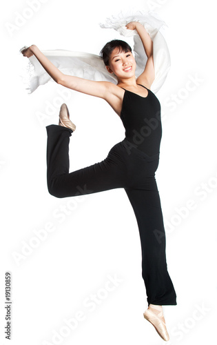 Fotobehang Dance School Ballerina with Scarf