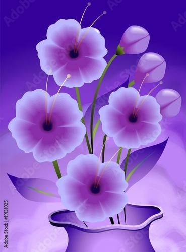 Obraz na Szkle Digital painting of flower