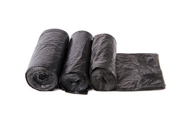 Black garbage bag  packages