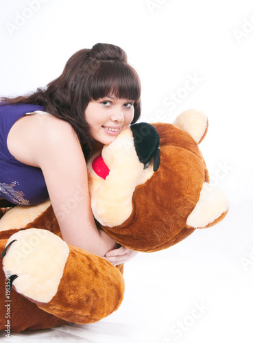 The girl and bear